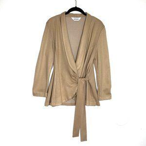 3 for $40 Joni James Wrap Long Sleeve Taupe Blazer